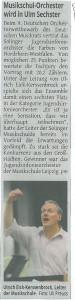 Musikschulorchester wird in Ulm Srchster